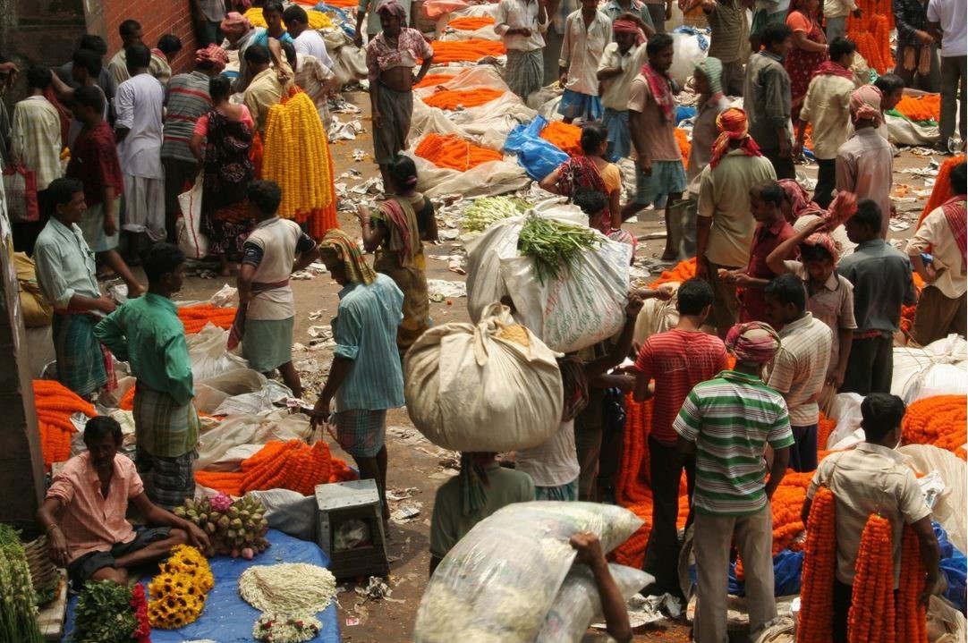 Marché en Inde (PxHere)
