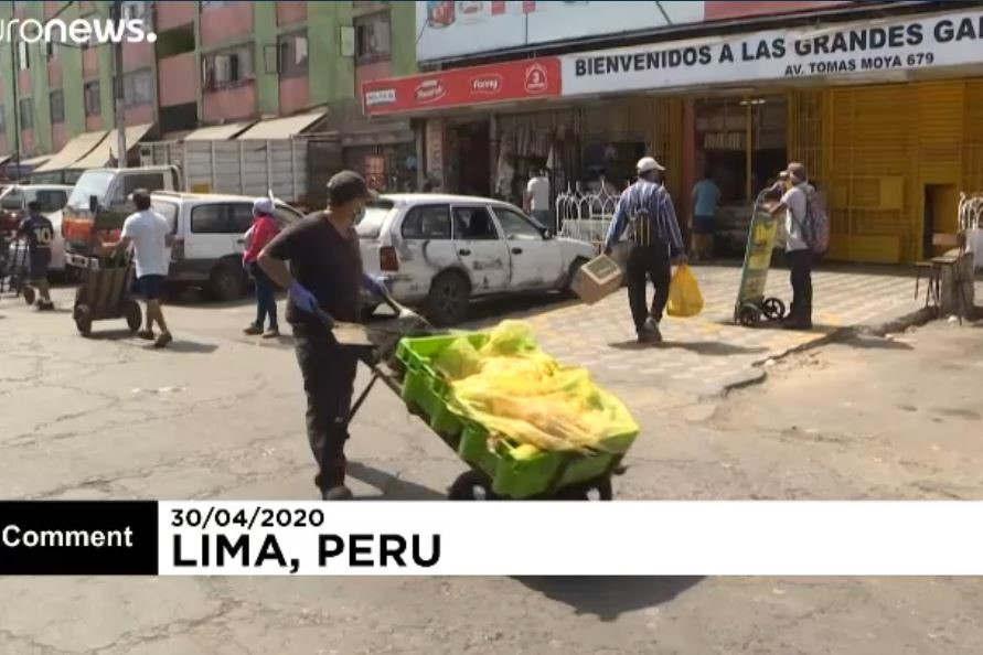 """Ma""""rché de Lima au Pérou (capture Euronews)"""