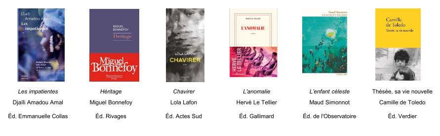 romans finalistes du Goncourt des lycéens