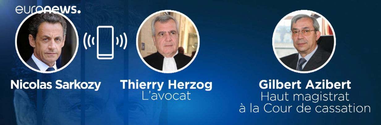 Sarkozy, Herzog, Azibert (capture euronews)