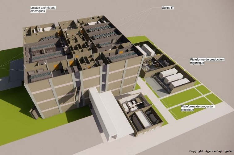 Plan 3D du Data Center (Photo Agence Cap Ingelec)