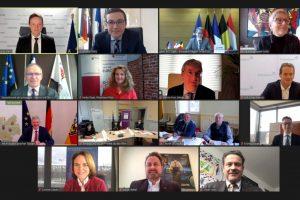Grande région : un sommet en visio-conférence (capture Grande Région)