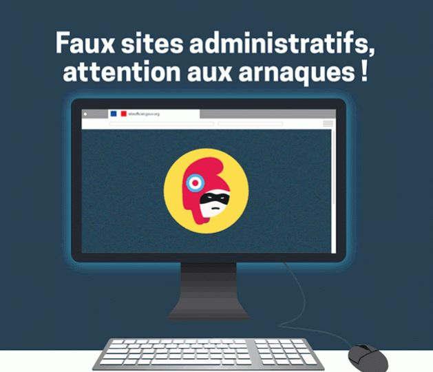 Faux sites adminustratifs (ministère économie)