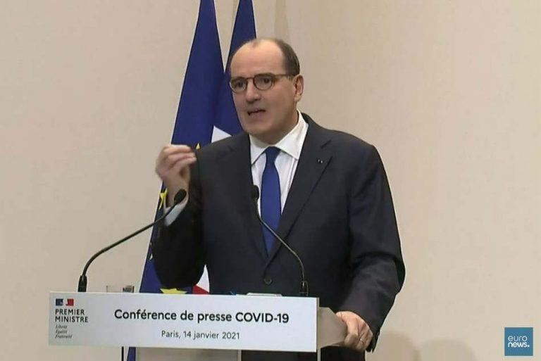 Jean Castex, conférence de presse du 14 janvier 2021 (capture euronews)