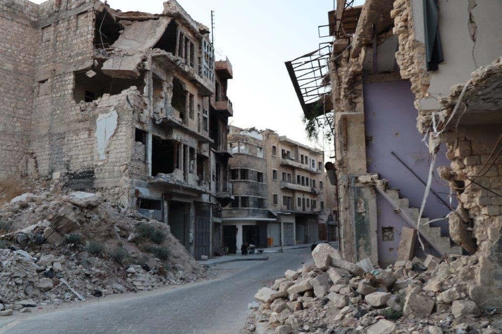 Une rue d'Alep (photo CSI)