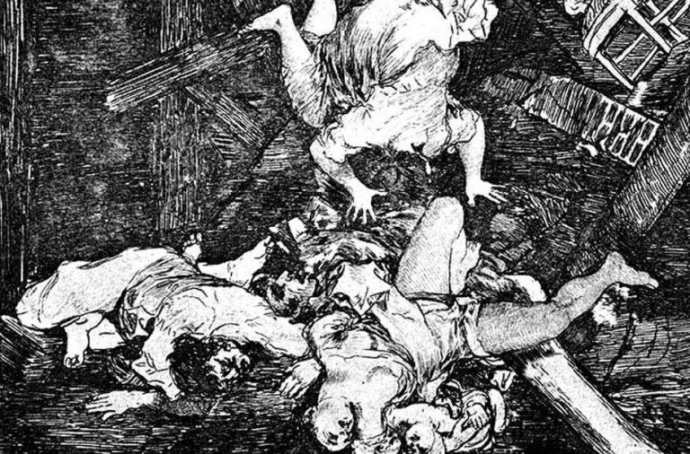 « Estragos de la guerra » (les ravages de la guerre), 1810-1814, détail. Caprices N° 30. Wikipédia, CC BY