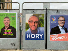 Les têtes de listes à Marly : Frédéric Rose, Thierry Hory et Christian Nowicki ( DR)