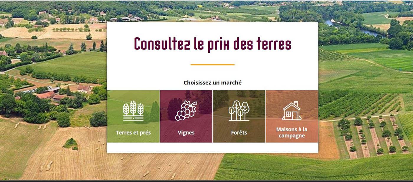 Le prix des terres.fr