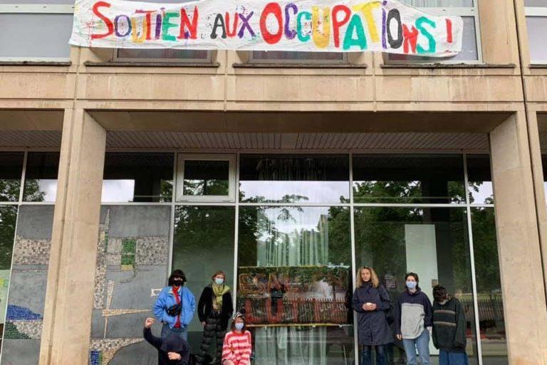 Occupation de l'Ecole Supérieure d'Art de Lorraine à Metz (photo CIP)