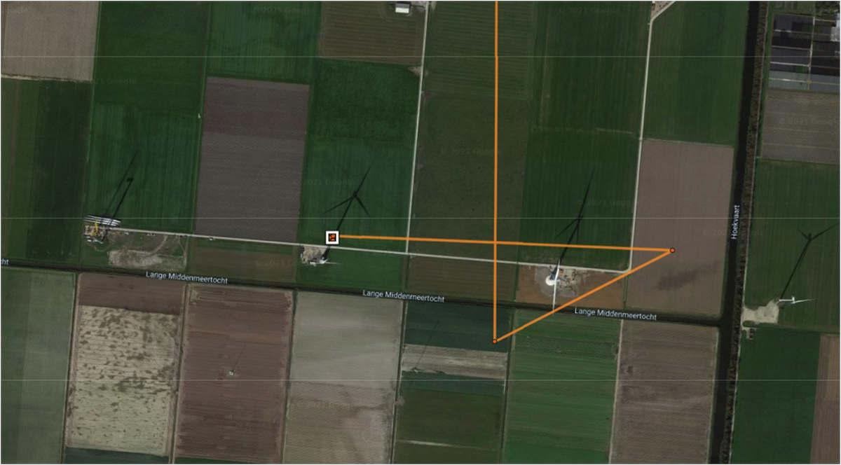 Trajet du Gypaète suivi par GPS jusqu'à l'impact avec une éolienne (document LPO France)