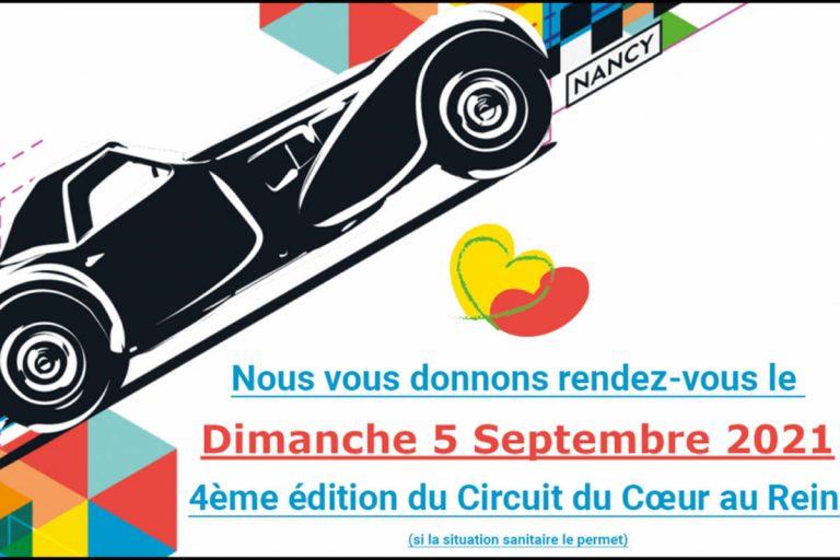 CHRU Nancy : 4è édition du circuit du Coeur au rein (affiche)