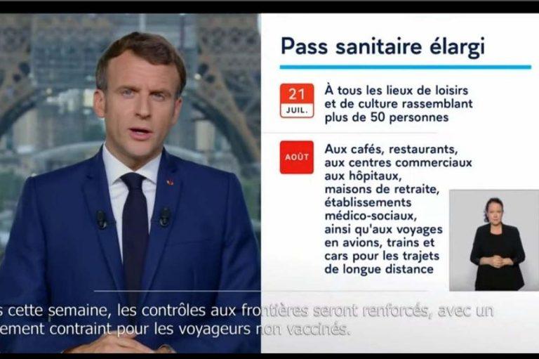 Discours Macron du 12 juillet 2021 (capture)