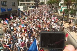 Beaucoup de monde à Toulon