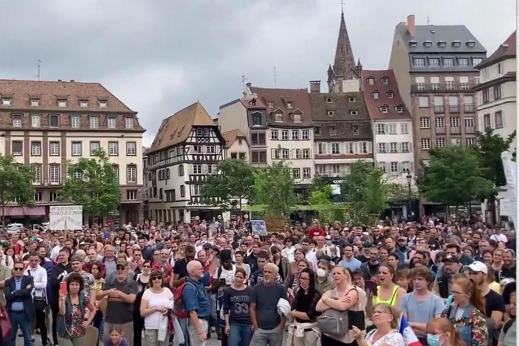 Environ 3000 manifestants à Strasbourg