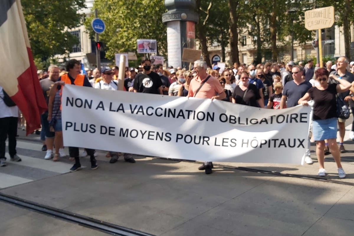 Manif à Nancy contre le pass sanitaire (DR)