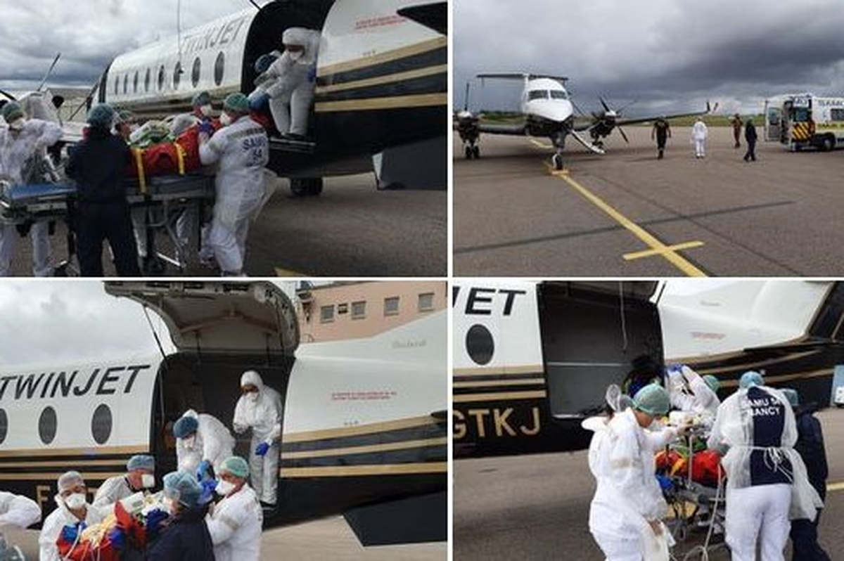 Arrivée de patients de Perpignan sur l'aérodrome de Nancy6essay (photos CHRU-Nancy)