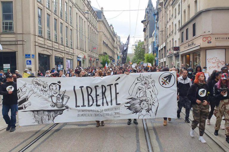 Manif du 7 août à Nancy (Le Bloc Lorrain)(