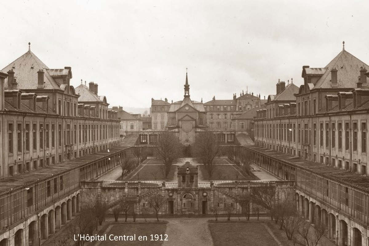 L'Hôpital Centraal de Nancy en 1912 (Photo CHRU Nancy)