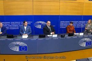 Conférence de presse au Parlement européen (Youtube)