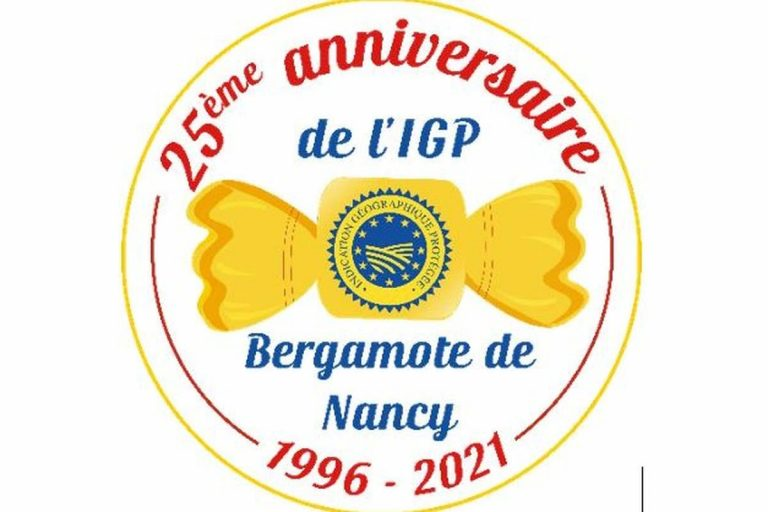 La bergamote de Nancy (logo du 25è anniversaire)