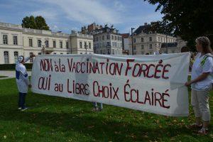 Manif des non vaccinés à Montélimar (DR)