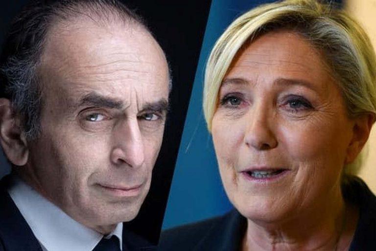 Zemmour-Le Pen (capture infos Parallèles)